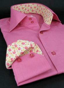 chemise xoos rose fleurs