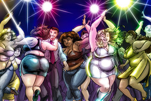 BBW Dance Party by derrickfish