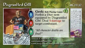 TCG geek disgruntled GM