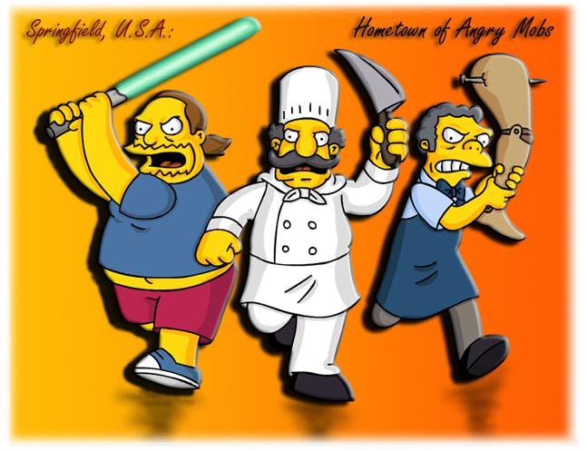 bartimaus11 angry mob simpsons