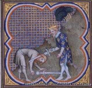 Clovis sodom' Jesus. (épée = allégorie de la bite)