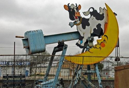 vache qui fabrique du pétrole