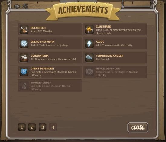 kingdom rush tous les achievements