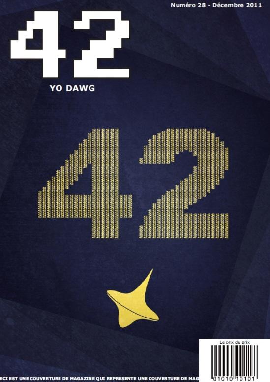 Couverture du numéro 28 du magazine 42