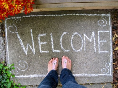 simple diy welcome mat paillasson