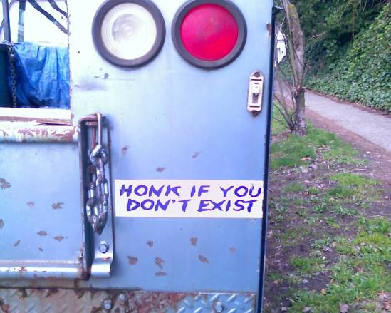 honk if you don't exist