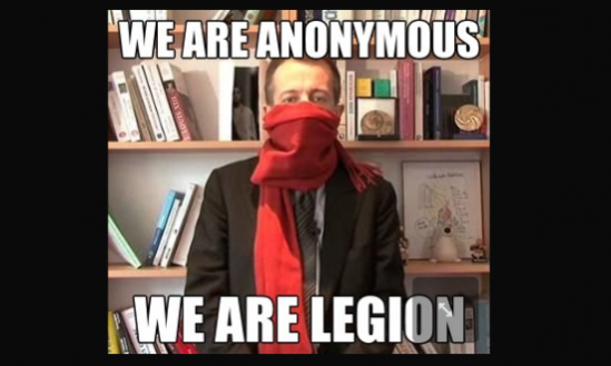 Christophe Blindé Barbier contre les Anonymous