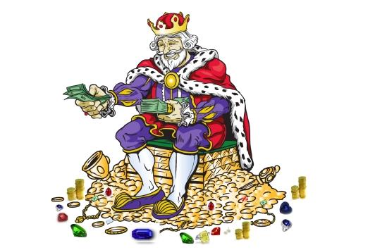 Le King aime l'argent