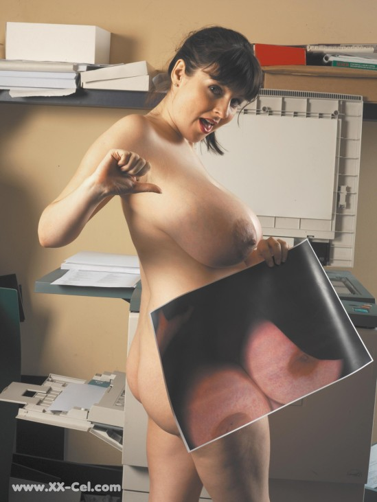 Lorna-Morgan-takes-a-photocopy-of-her-fantastic-boobs