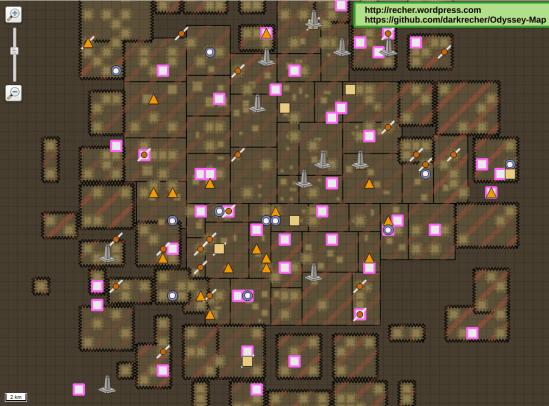 map du jeu Odyssey faite avec QGIS