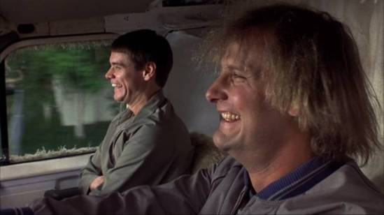 Moi et Chef Random souriant, durant notre road trip qui a créé une amitié éternelle entre nous deux.