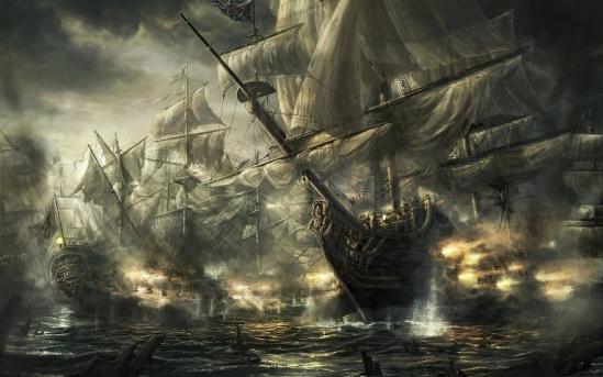 Bataille navale dans laquelle on navigue à vue !