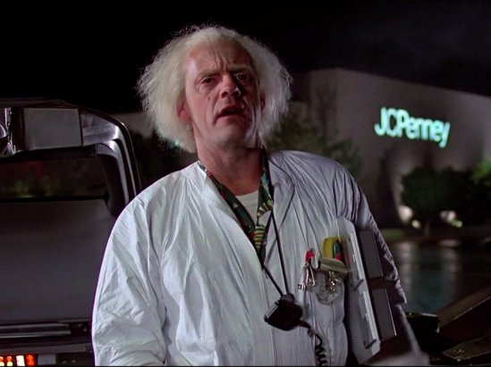 then-as-mad-scientist-dr-emmett-brown-christopher-lloyd-traveled-through-time-with-his-tricked-out-delorean