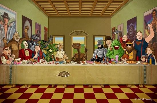 Le repas de Noël. Mais y'avait pas Jésus.