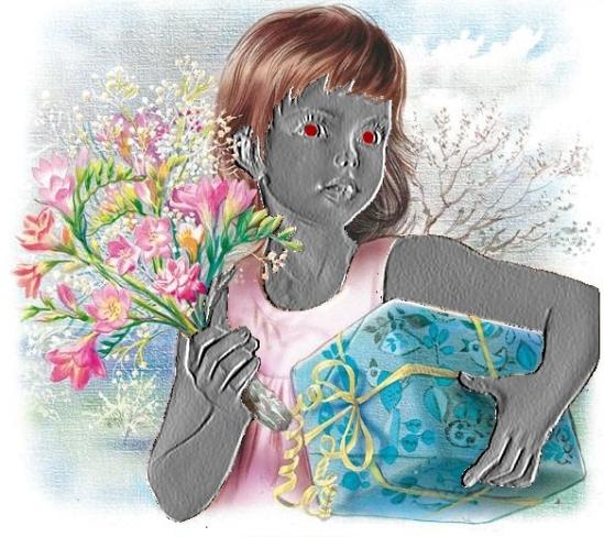 image de Martine modifiée avec sa tronche en métallisée